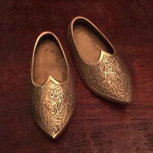 Decorative Brass Slippers